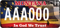 Montana license Plate In God We Trust