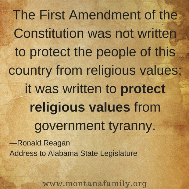 A Quote from ROnald Reagan about the First Amendment